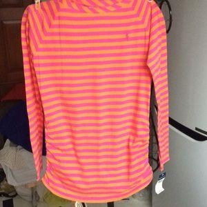 Ralph Lauren striped long sleeve T shirt sZ XL 16